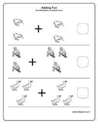 Birds Addition Worksheets for Kindergarten,Printable Worksheets ...