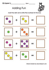 math worksheet : simple addition using dotsmath addition worksheets downloadable  : Beginner Addition Worksheets