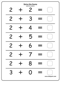 Printable Math Work Sheets,Adding Worksheets, Kindergarten Math ...