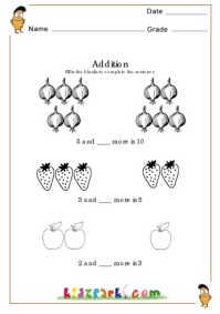 math worksheet : addition worksheets maths sentence formation : Addition Sentence Worksheets