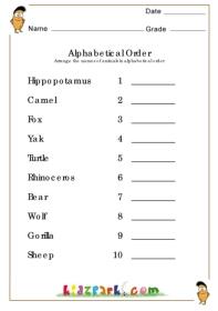 math worksheet : printable worksheets alphabetical order worksheets kindergarten  : Abc Order Worksheets Kindergarten
