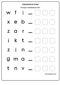 Alphabetical Order Worksheets, English Alphabets Worksheet ...