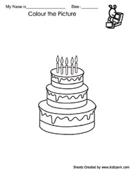 birthday cake coloring worksheets downloadable activity sheets teachers printables. Black Bedroom Furniture Sets. Home Design Ideas