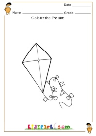 colour the kite kindergarten curriculam downloadable activity sheets. Black Bedroom Furniture Sets. Home Design Ideas