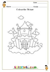 Colouring Pages For Lkg : Colour the Castle,Teacher Resource,Colouring Worksheets for Kids