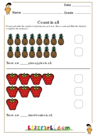fruits counting fill worksheet activity sheets for children fundamental counting principle. Black Bedroom Furniture Sets. Home Design Ideas