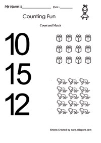 count and match worksheets numbers printable activity sheet home schooling worksheets. Black Bedroom Furniture Sets. Home Design Ideas
