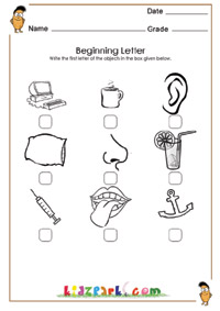 math worksheet : beginning sounds worksheets kindergartenactivity sheets for kids : Beginning Sounds Kindergarten Worksheets