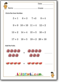 First Standard Math Worksheets, Circle the Even Number Worksheet ...