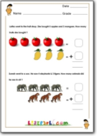 math worksheet : grade 1 maths addition printable worksheets : Worksheet Of Maths For Class 1