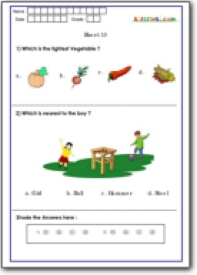 Spatial Concepts for Grade 1,Technical Skills, Mathematical Test ...