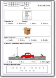 Conceptual Skill Worksheet for Class 1