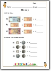 money counting worksheet teacher resource of worksheets class 1 math. Black Bedroom Furniture Sets. Home Design Ideas
