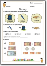 grade 1 money worksheets. Black Bedroom Furniture Sets. Home Design Ideas