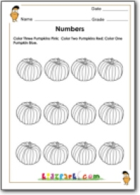 pumpkin counting worksheet teachers resources first grade number sense activities. Black Bedroom Furniture Sets. Home Design Ideas