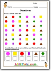 Shapes Counting Worksheet, Worksheets for First Grader ...