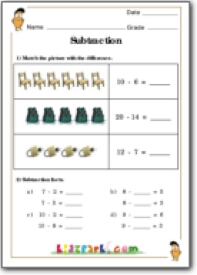 math worksheet : subtraction factsteaching worksheetsactivities sheets for  : Subtraction Worksheets 1st Grade