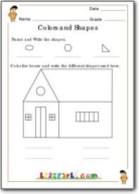 Worksheets Similar Shapes Worksheet Grade 4 identification of similar shapes grade 1 and colours for kids