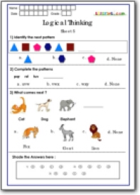 Worksheets Logical Reasoning Worksheets For Grade 1 logical thinking worksheets for grade 1 maths national talent exam class paid members
