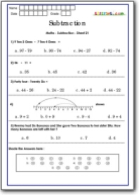 math worksheet : number line activity sheets  k5 worksheets : Subtraction With Number Line Worksheet