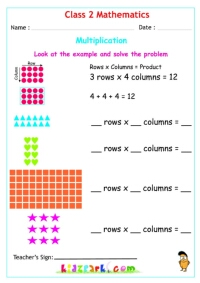 math worksheet : class 2 maths multiplication downloadable worksheets : Multiplication Worksheet For Grade 2