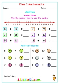 math worksheet : class 2 maths addition printable worksheets : Maths Adding Worksheets