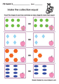 Equal or Unequal Grade 2 (Second Sheet) by Emma Harrison | TpT