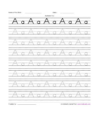 Alphabet Handwriting Practice Worksheets