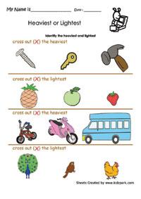 ... Lightest Worksheets, Activity Sheets for Kids, Preschools worksheets