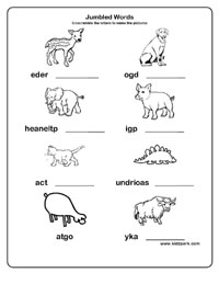 Scrambled Words Worksheets For Class 1,2,3,Printable Word Worksheets ...