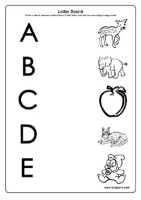 Letter Sound Worksheets, Activity Sheets for Kids, Learning Activities