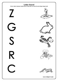 math worksheet : letter and sound a to z worksheetsletter sound recognition  : Kindergarten Letter Recognition Worksheets
