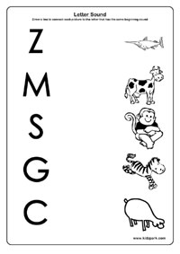 Letter and sound- A to Z worksheets,Printable Worksheets,Play ...