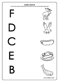 teaching letters sounds activity sheet beginning sound activities