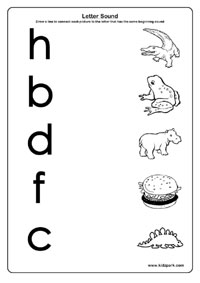 Grade 1 English Learning Letter Sounds Worksheets,Beginning Sound ...