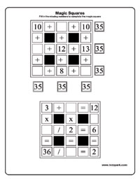 Printables Magic Squares Worksheet magic squares worksheets activity sheets for kids puzzles worksheets