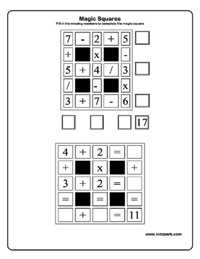 math worksheet : magic squares worksheetsprintable activities for kidsprintable  : Math Magic Square Worksheet