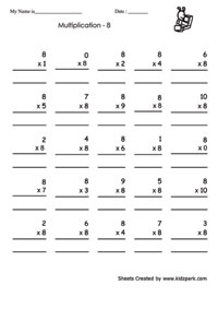 Practice Multiplication Worksheets,Class 3 Worksheets,Kids ...