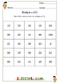 math worksheet : multiplication by 10 worksheet for kindergarteneducational  : Multiplying By Multiples Of 10 Worksheet