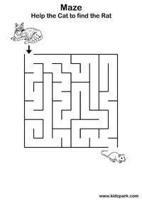 Easy Maze Practice Sheets For Kids,Kindergarten Curriculam ...
