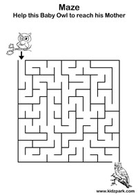 Pre-School Mazes Worksheets,Printable Activity Sheet,Play School ...