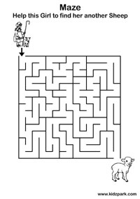 Simple Maze For Preschoolers