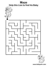 maze worksheet maze for kids - Activity Worksheet For Kindergarten
