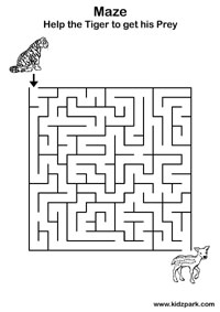 maze for kids - Kids Activity Sheet