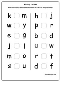 math worksheet : free printable missing letter worksheets  sheets : Worksheets On Alphabets For Kindergarten