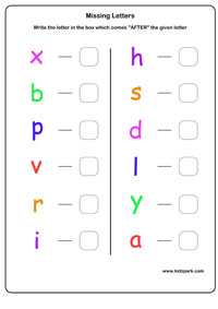 ... Next Letter Worksheets,Kindergarten Letter Recognition Worksheets