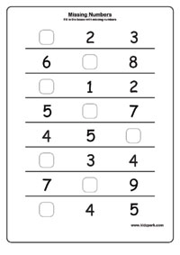 math worksheet : missing number worksheets activity sheets for kids number worksheets : Number Worksheets For Kindergarten