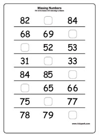 Printables Number Sequence Worksheets printable missing numbers worksheetshome schooling worksheets numbers