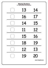 Missing Number Worksheets Activity Sheets For Kids