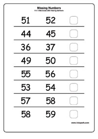 Printables Number Sequence Worksheets printable missing numbers worksheetshome schooling worksheets worksheet numbers